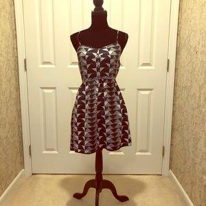 Madewell Summer Dress Navy & Beige Size 4